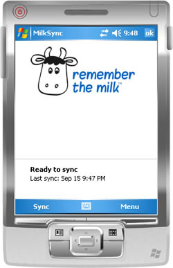 MilkSync for Windows Mobile